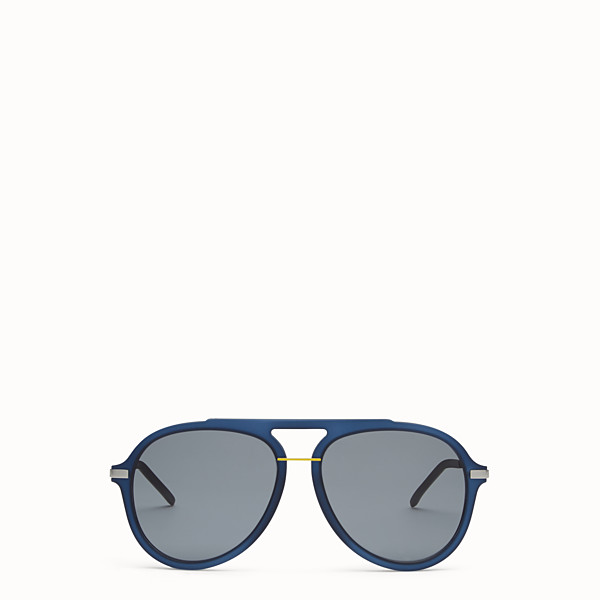 FENDI FENDI FANTASTIC - Blue satin-finish sunglasses - view 1 small thumbnail