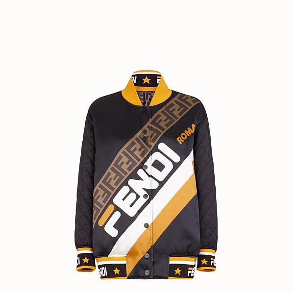 FENDI JACKET - Black satin bomber jacket - view 1 small thumbnail