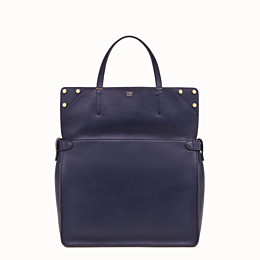 FENDI FENDI FLIP LARGE - Blue leather bag - view 3 thumbnail