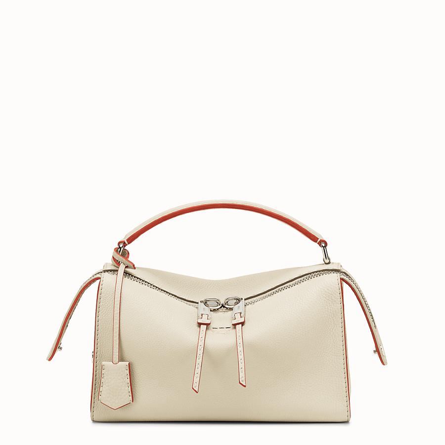 FENDI LEI SELLERIA BAG - white Roman leather Boston bag - view 1 detail