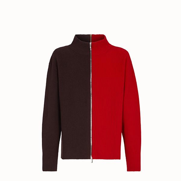 FENDI CARDIGAN - Multicolor wool sweater - view 1 small thumbnail