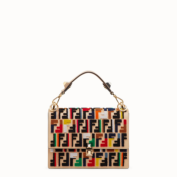 FENDI KAN I - Multicolour leather and fabric bag - view 1 small thumbnail