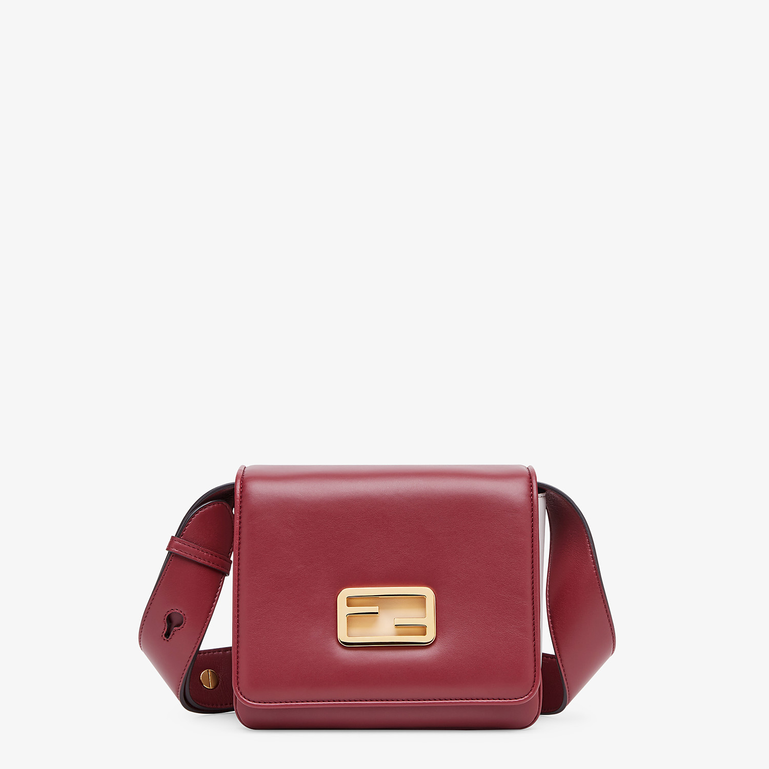 FENDI FENDI ID SMALL - Burgundy leather bag - view 1 detail