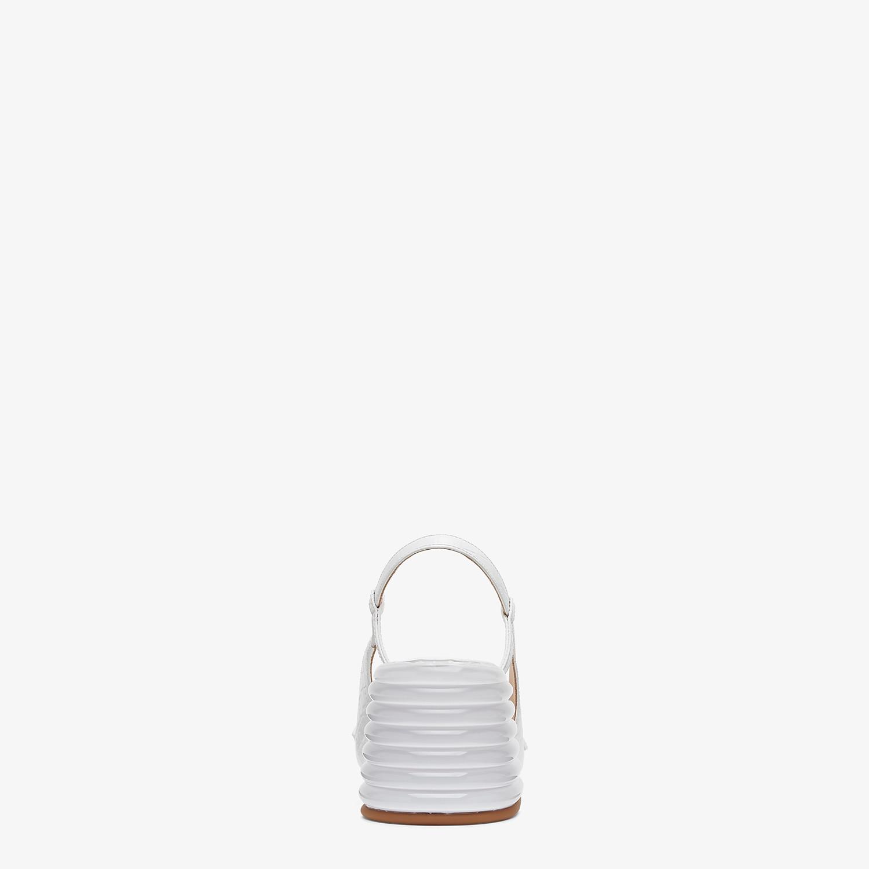 FENDI SLINGBACKS - White leather promenade - view 3 detail