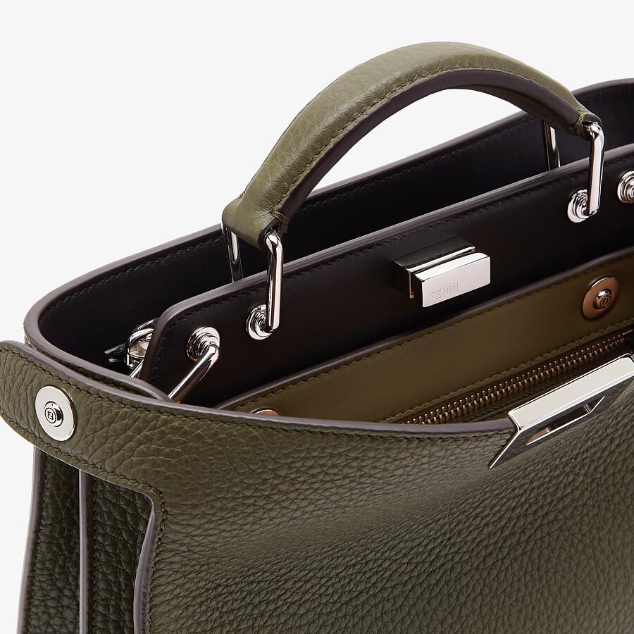 FENDI PEEKABOO ISEEU MINI - Green leather bag - view 6 detail