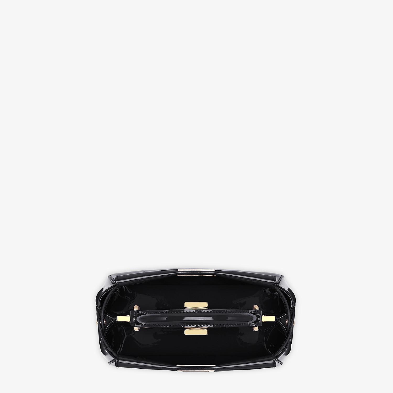 FENDI PEEKABOO ICONIC MINI - Black patent leather bag - view 5 detail
