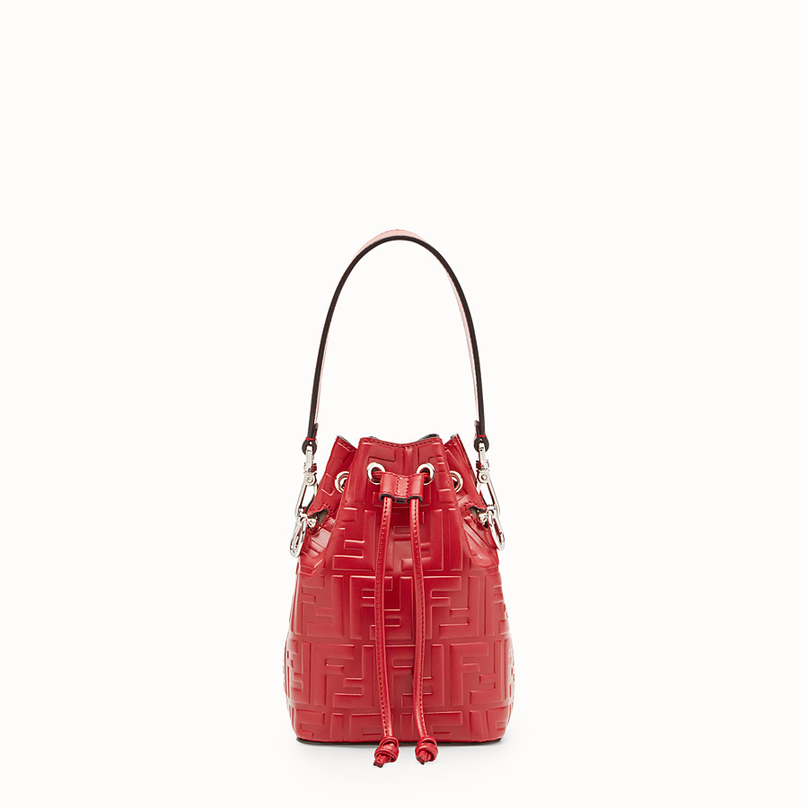 a921b6a49515 Red leather mini-bag - MON TRESOR