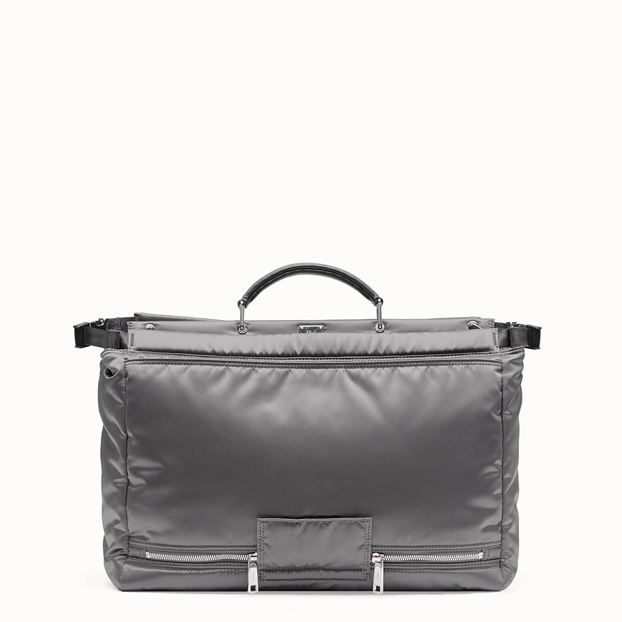 FENDI PEEKABOO MEDIUM FENDI AND PORTER - Silver colour nylon bag - view 3 detail