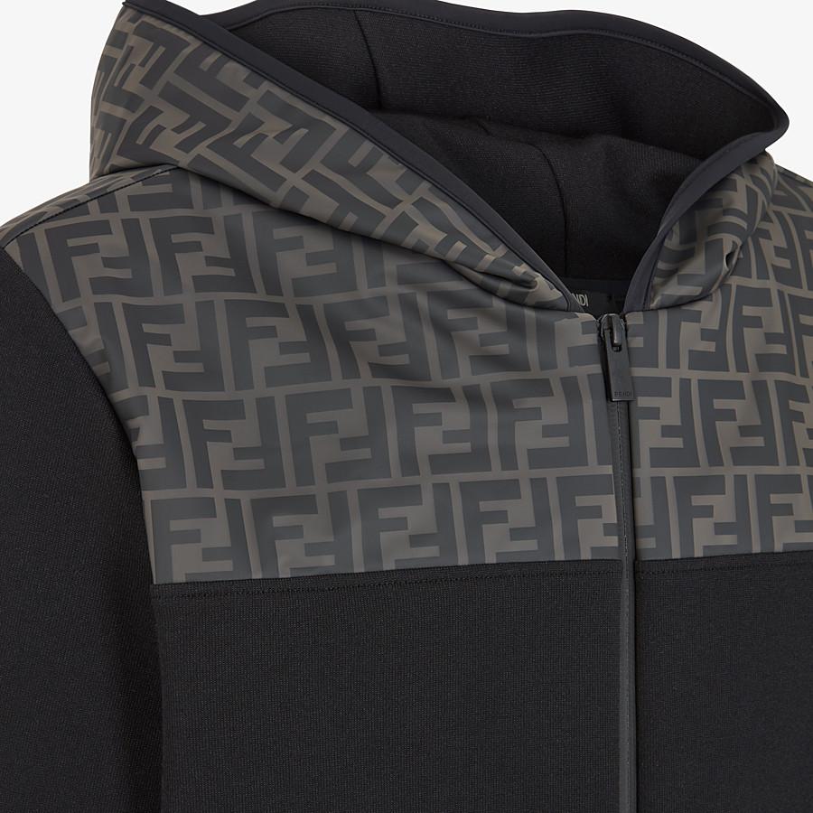 FENDI SWEATSHIRT - Black cotton jersey sweatshirt - view 3 detail