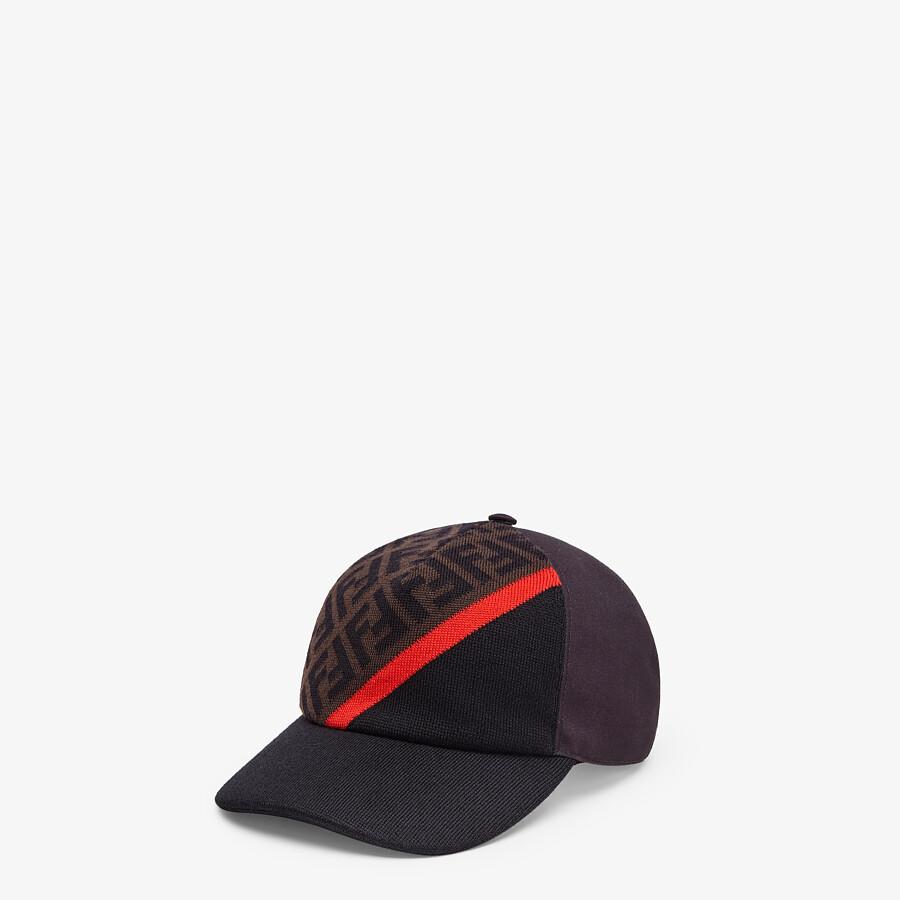 FENDI HAT - Multicolour canvas baseball cap - view 1 detail