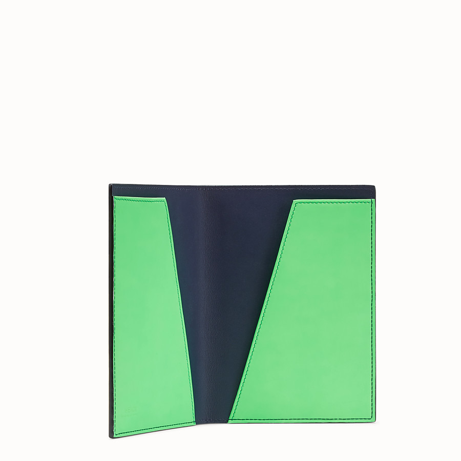 FENDI PASSPORT COVER - Blue leather passport cover - view 3 detail