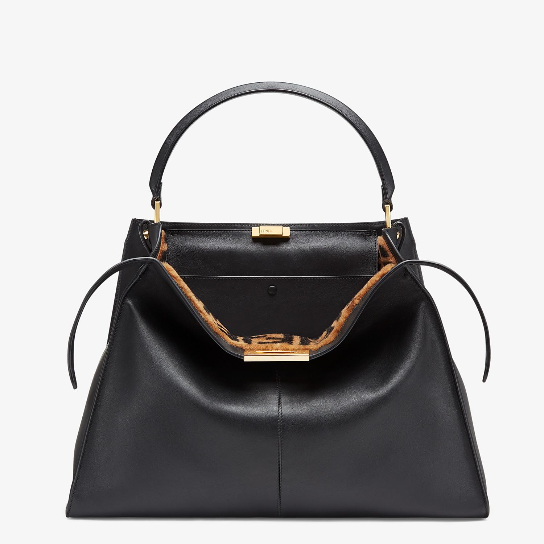 FENDI PEEKABOO X-LITE LARGE - Black leather bag - view 1 detail