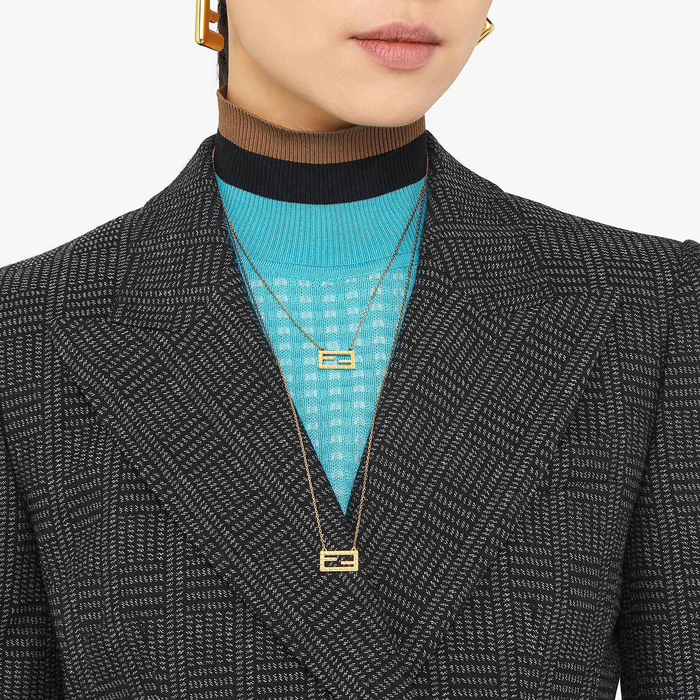 FENDI BAGUETTE NECKLACE - Gold-color necklace - view 2 detail