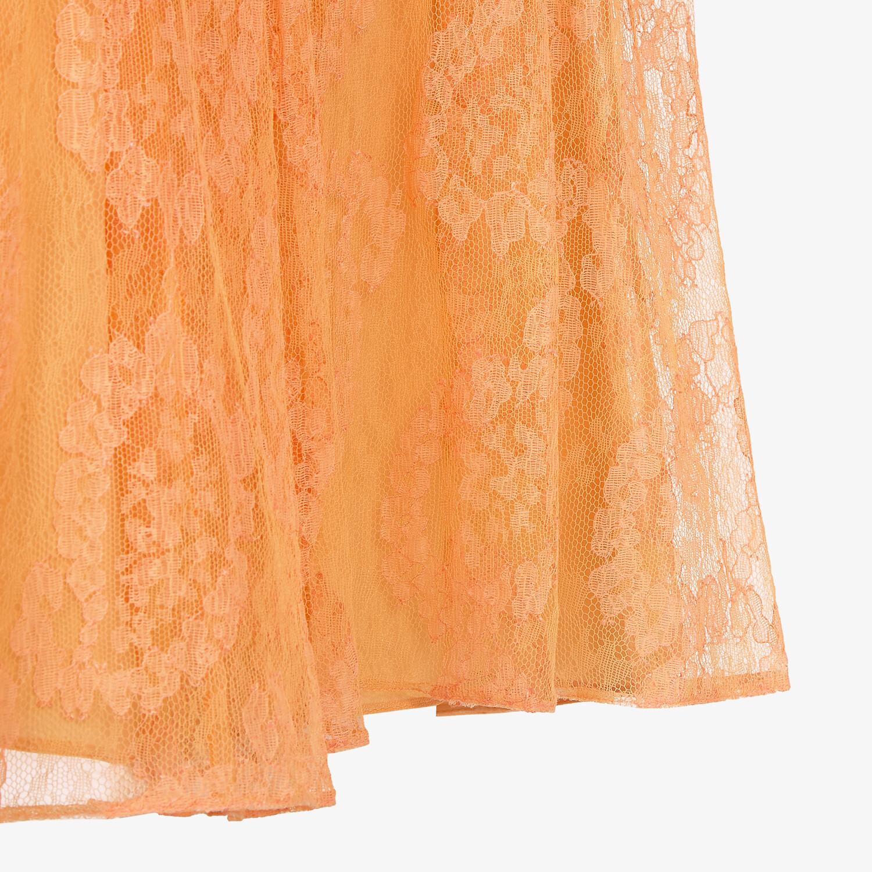 FENDI SKIRT - Orange lace skirt - view 3 detail