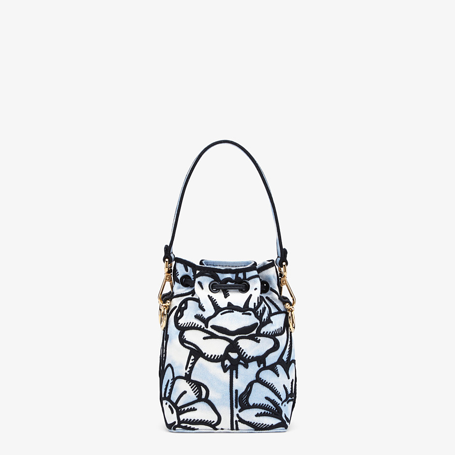 FENDI MON TRESOR - White denim mini-bag - view 3 detail