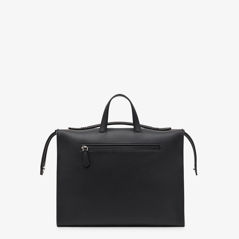 FENDI LUI BAG - Black leather bag - view 3 detail