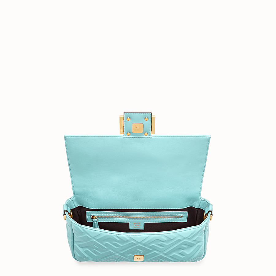FENDI BAGUETTE - Pale blue leather bag - view 5 detail