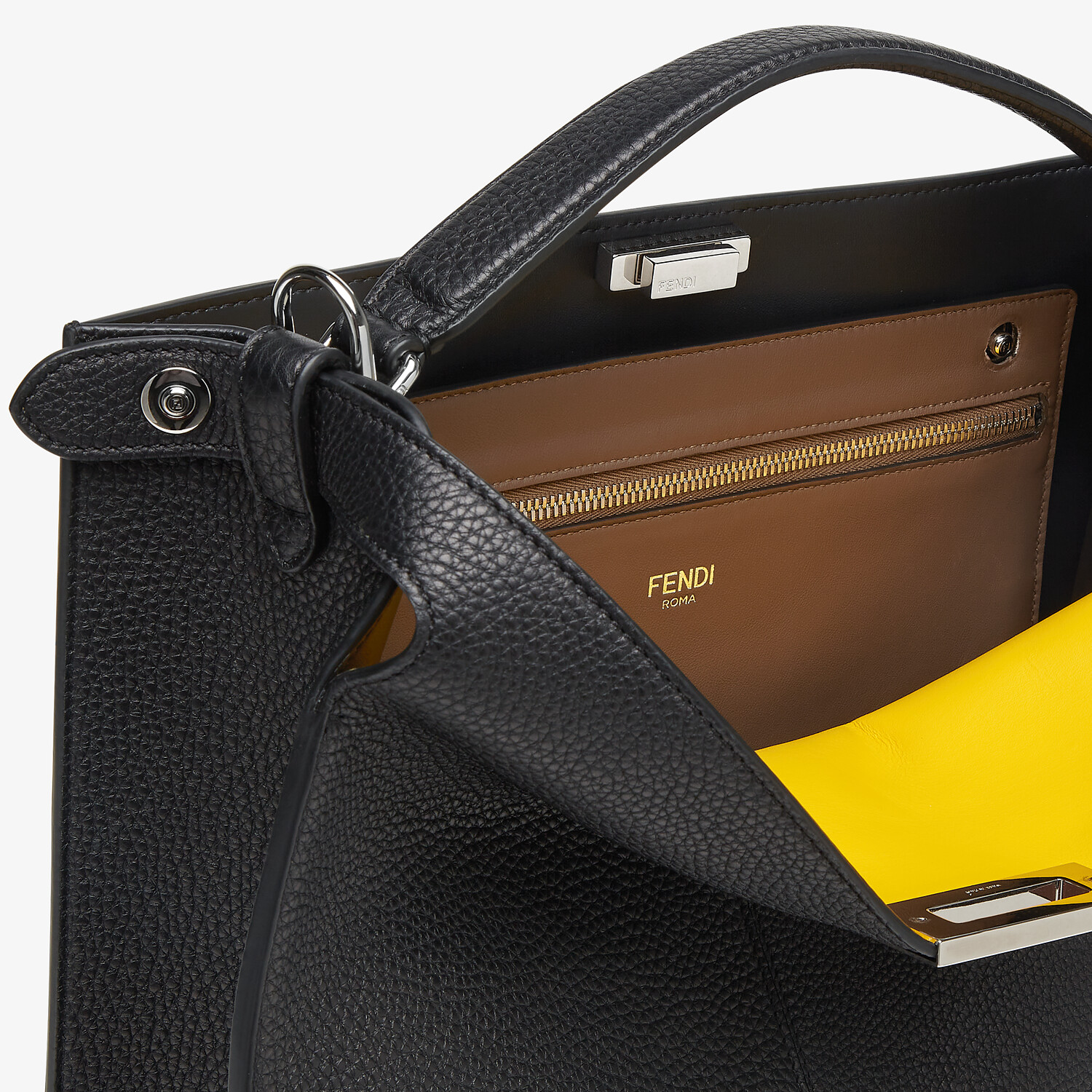 FENDI PEEKABOO ISEEU TOTE - Black leather bag - view 7 detail