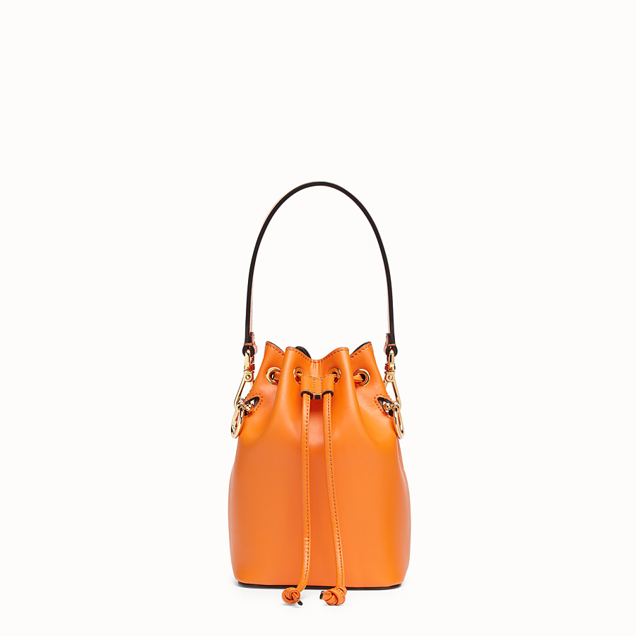 FENDI MON TRESOR - Orange leather mini-bag - view 1 detail