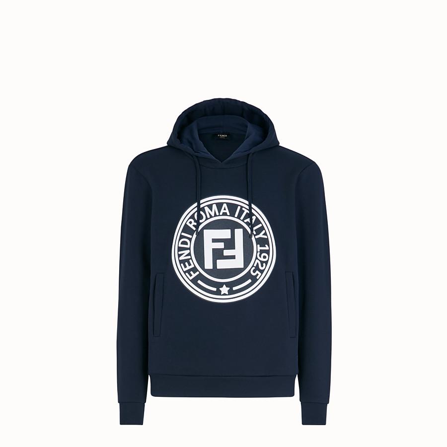 FENDI SWEATSHIRT - Blue cotton jersey sweatshirt - view 1 detail