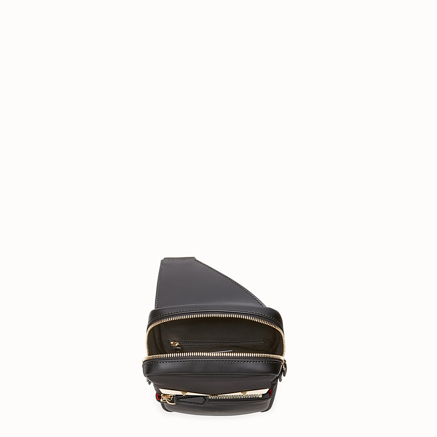 FENDI BELT BAG - Black nylon one-shoulder backpack - view 4 detail