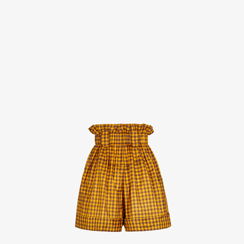 FENDI SHORTS - Vichy silk trousers - view 2 detail