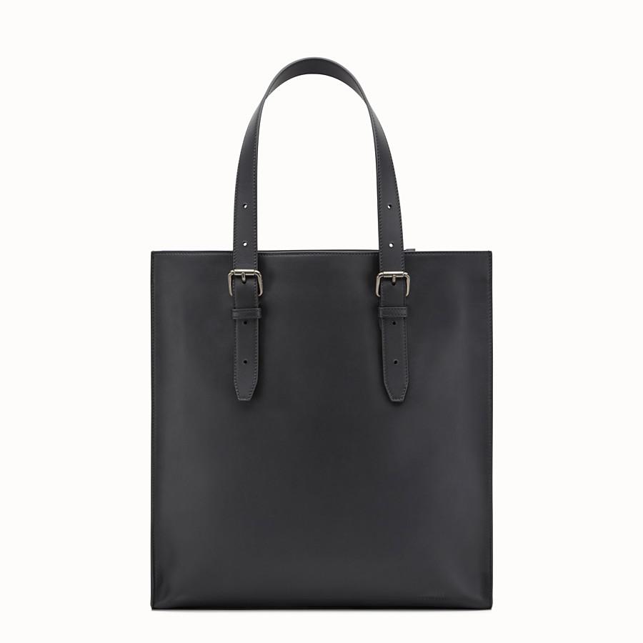 FENDI 手提袋 - 黑色皮革購物袋 - view 3 detail
