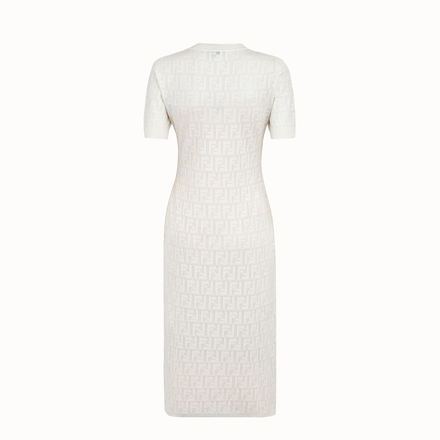 FENDI DRESS - White cotton dress - view 2 detail