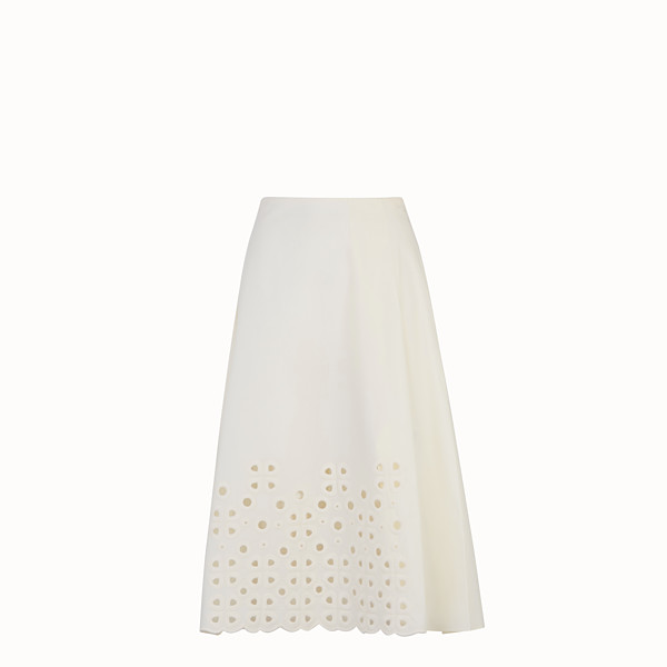 FENDI SKIRT - White taffeta skirt - view 1 small thumbnail