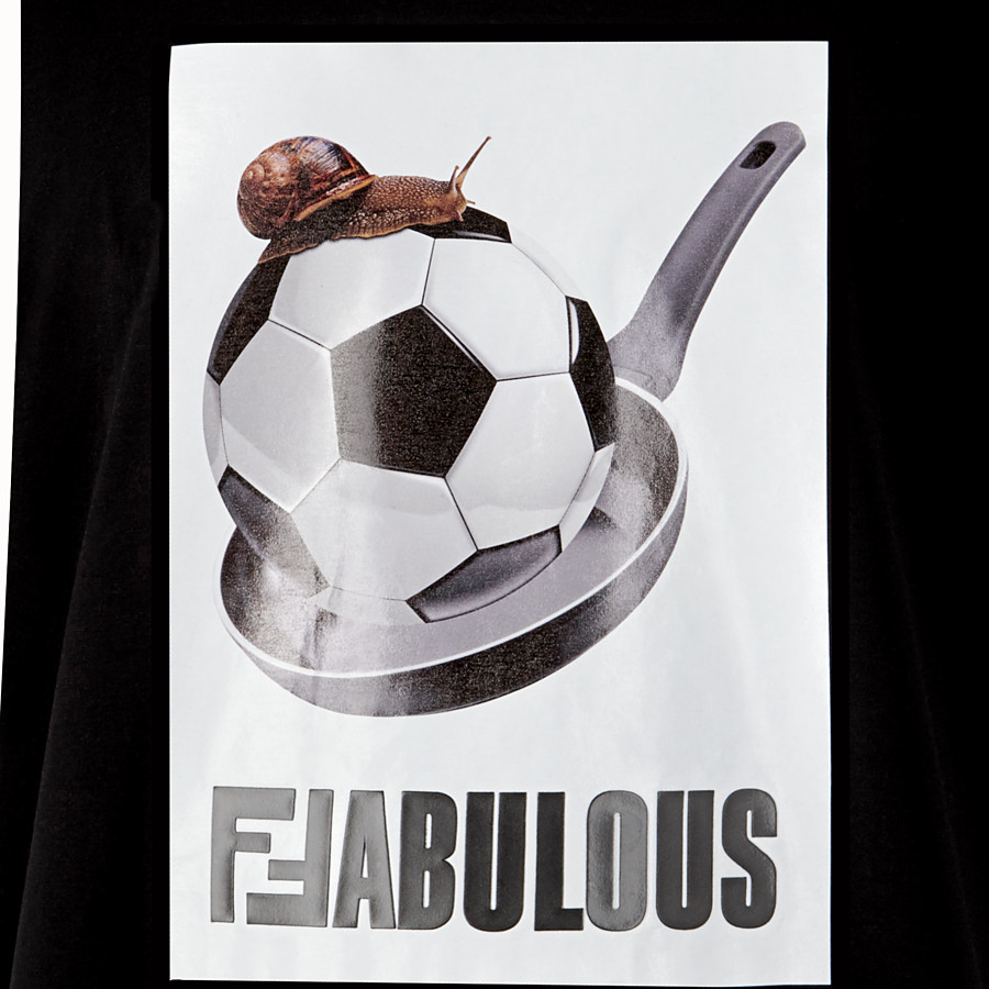 FENDI T-SHIRT - T-shirt en coton noir - view 3 detail