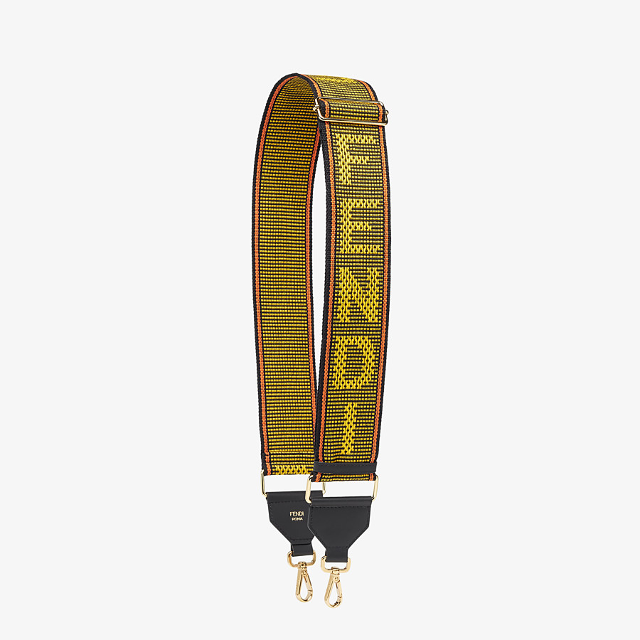 FENDI STRAP YOU - Yellow ribbon shoulder strap - view 1 detail