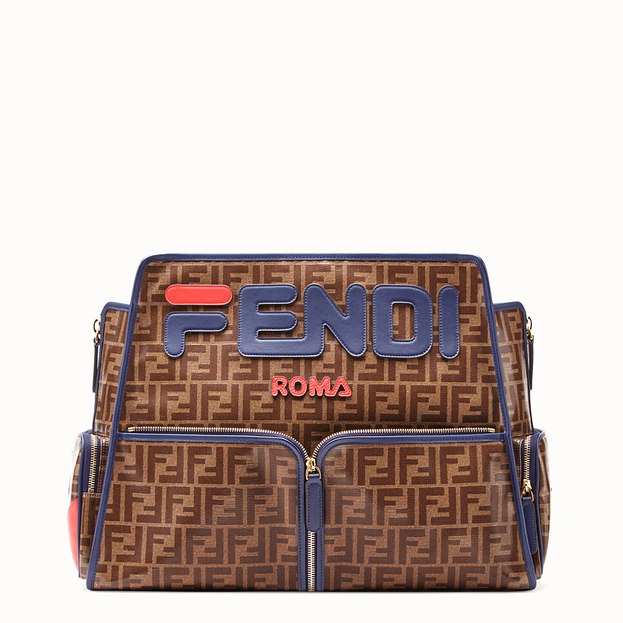 FENDI PEEKABOO DEFENDER - Glazed brown fabric cover - view 3 detail