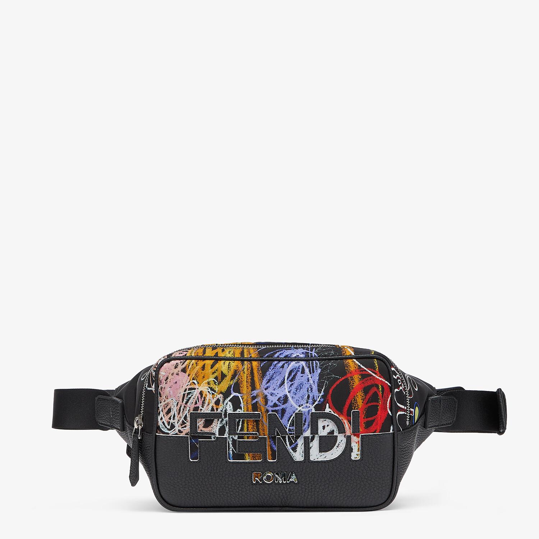 FENDI BELT BAG - Multicolor nylon and leather bag - view 1 detail