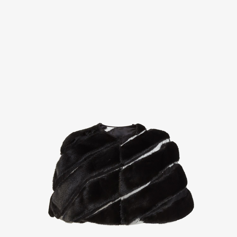 FENDI CAPE - Black mink cape - view 1 detail