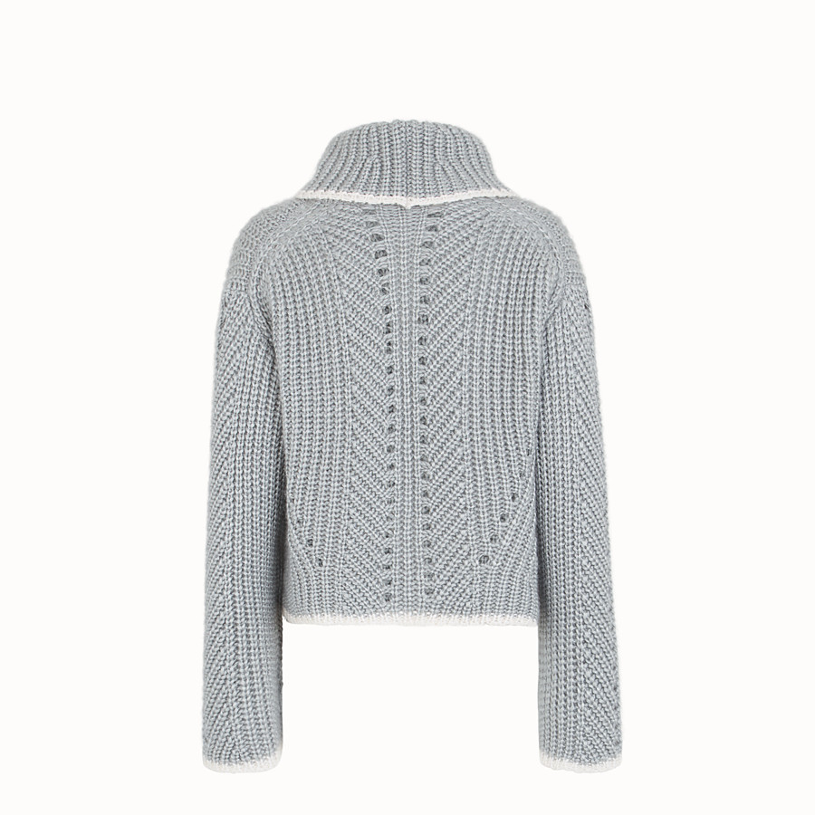 FENDI JUMPER - Grey cashmere sweater - view 2 detail