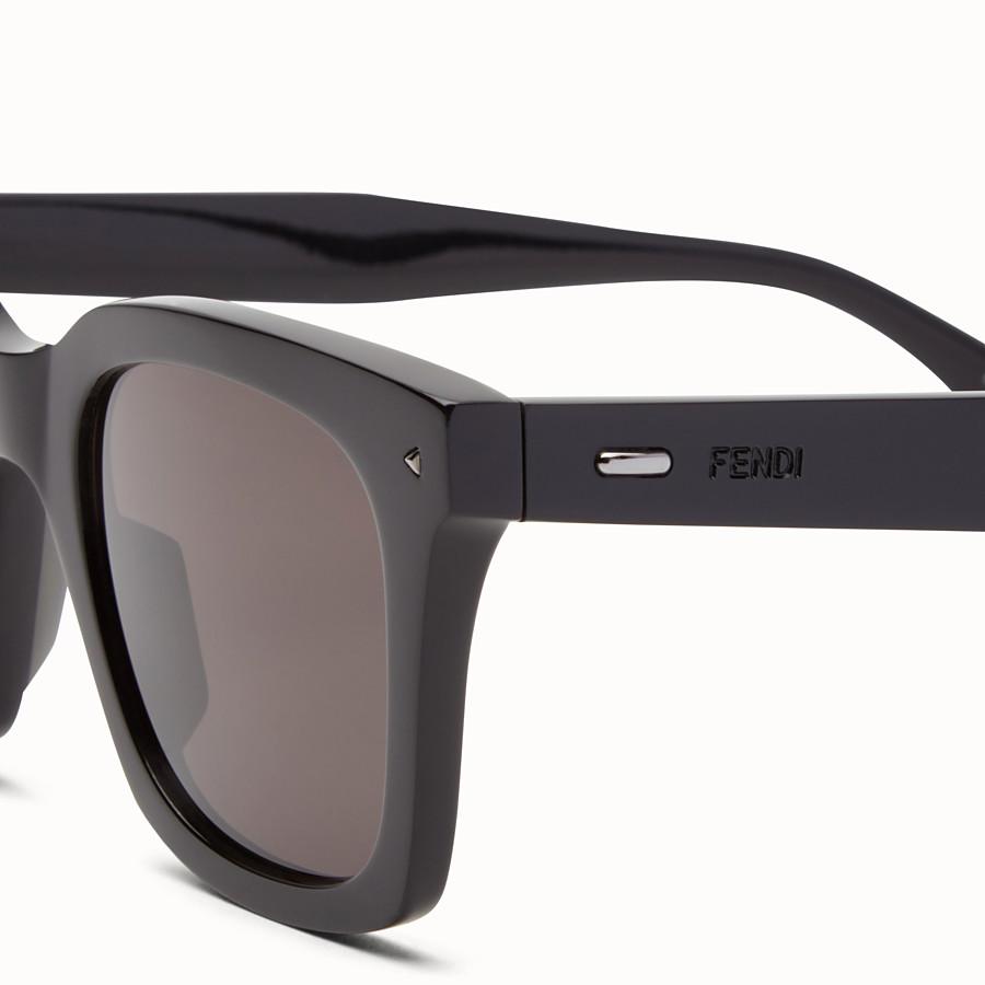 FENDI 펜디 썬 펀 - 블랙 컬러의 아세테이트 선글라스 - view 3 detail