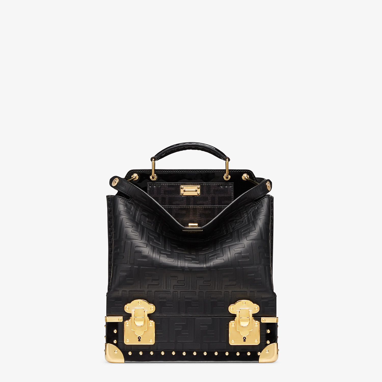 FENDI PEEKABOO ICONIC MINI TRUNK - Black leather bag - view 1 detail