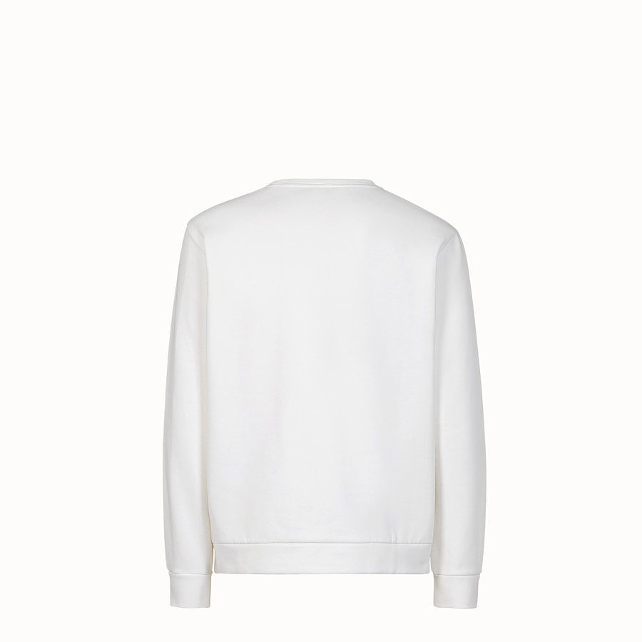 FENDI SWEATSHIRT - White cotton sweater - view 2 detail