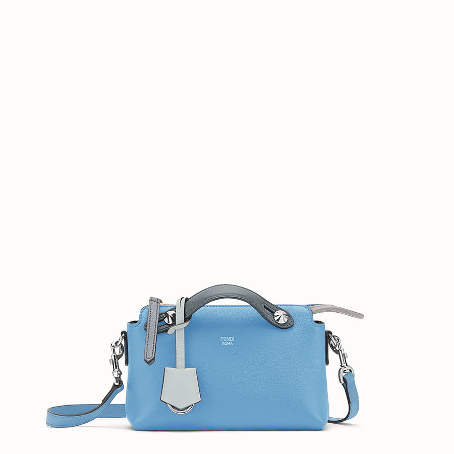 FENDI BY THE WAY MINI - Small light blue leather Boston bag - view 1 detail