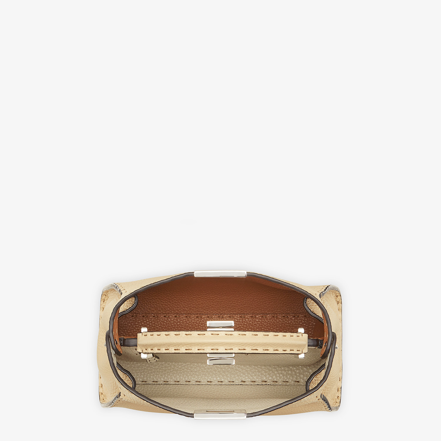 FENDI PEEKABOO ICONIC ESSENTIALLY - Beige Cuoio Romano leather bag - view 5 detail