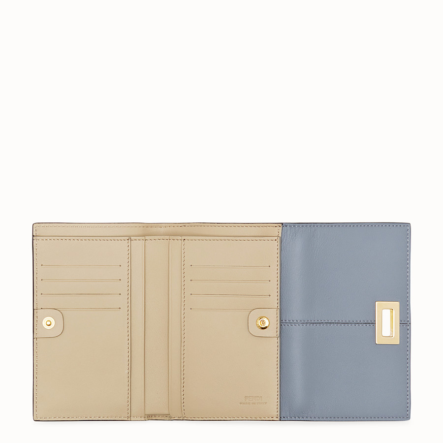FENDI WALLET - Grey leather cardholder - view 4 detail