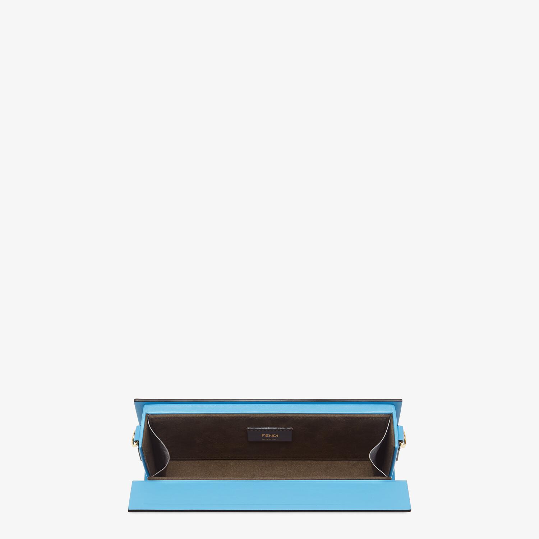 FENDI HORIZONTAL BOX - Tasche aus Leder in Blau - view 4 detail