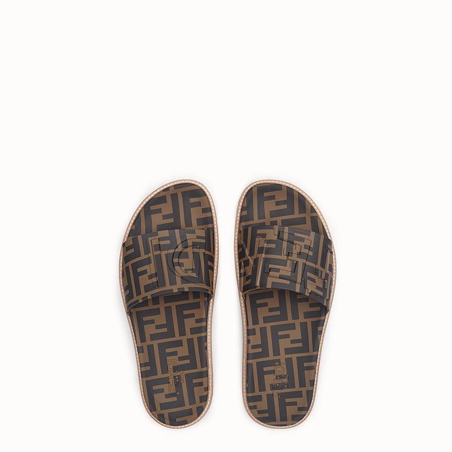 FENDI SLIDES - Brown TPU fussbetts - view 4 detail