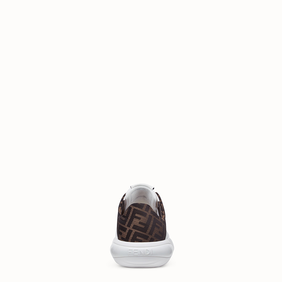FENDI SNEAKERS - Low-tops in white tech mesh and leather - view 3 detail