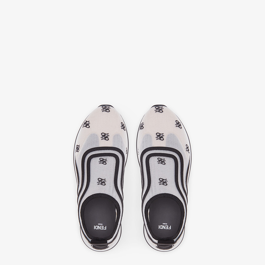 FENDI SNEAKERS - Sneakers en filet blanc - view 4 detail