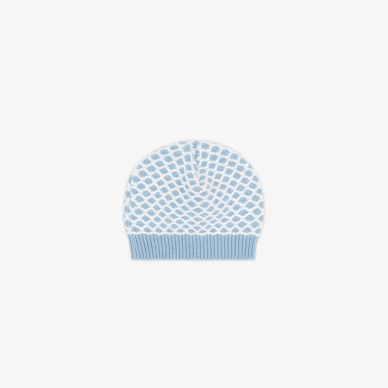 FENDI BONNET POUR BÉBÉ - Bonnet bébé en maille bleu ciel - view 2 detail