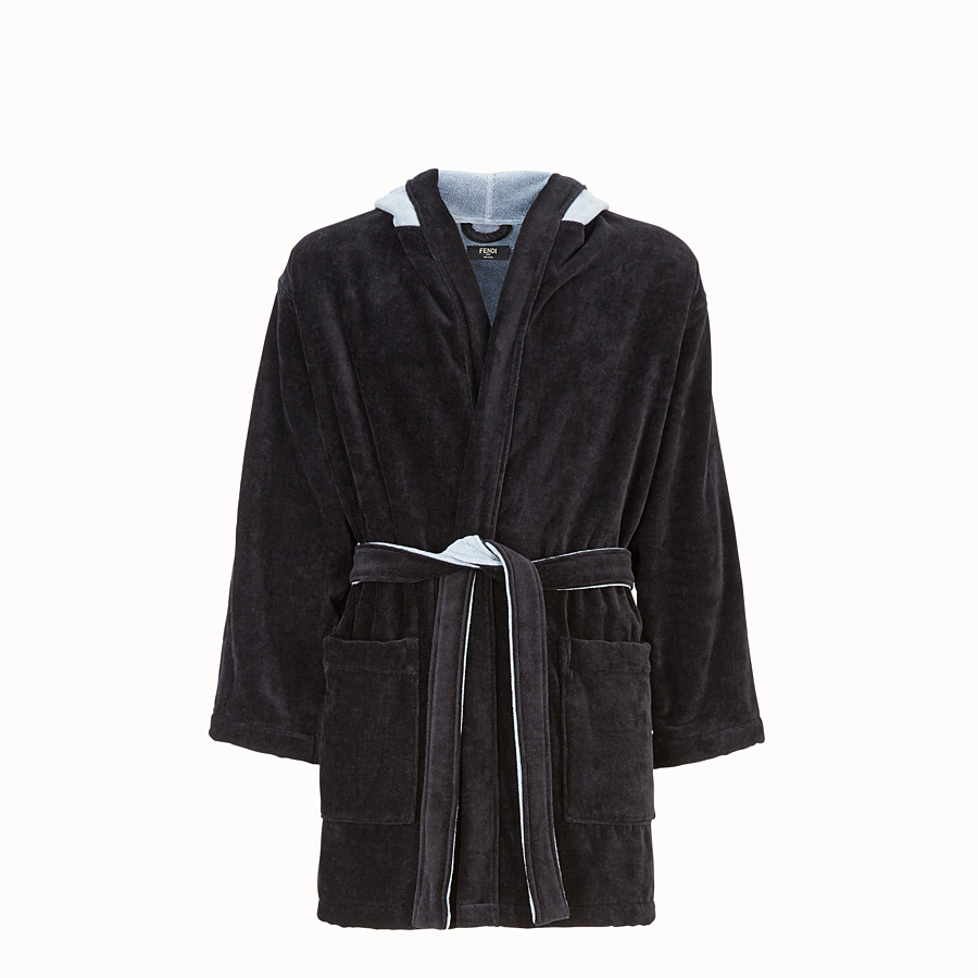 FENDI BATHROBE - Multicolour cotton bathrobe - view 1 detail