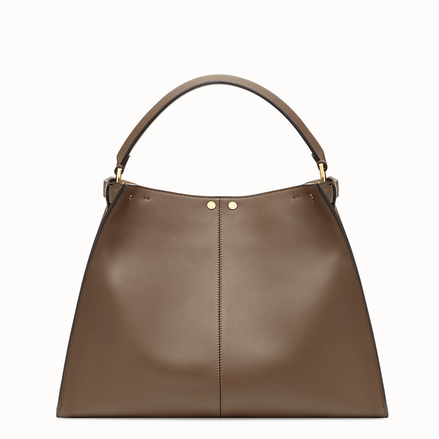 FENDI PEEKABOO X-LITE - Sac en cuir marron - view 5 detail