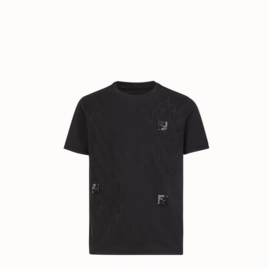 FENDI T-SHIRT - T-Shirt aus leichtem Jersey in Schwarz - view 1 detail