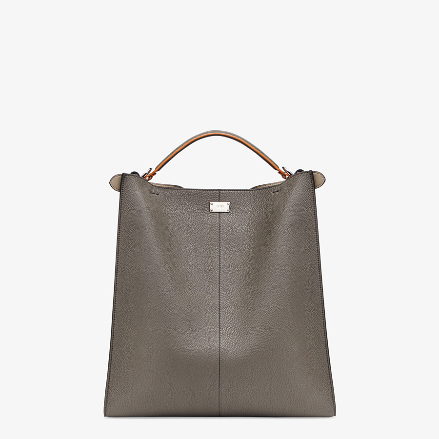 FENDI PEEKABOO X-LITE FIT - Grey leather bag - view 4 detail